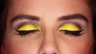 Eyes of sexy woman with outstanding makeup