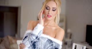 Glamorous gorgeous blond woman