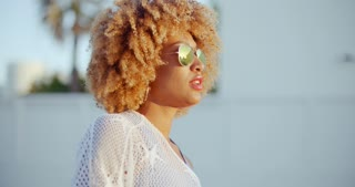 Sensual Portrait of Afro American Girl
