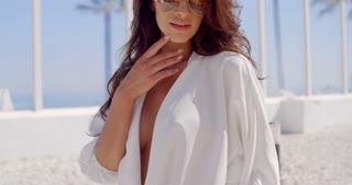 Sensual Slow Motion Video of Brunette Girl
