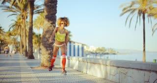 Sexy Angle of Roller Skate Girl