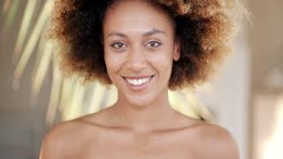 Smiling Woman Closeup Portrait
