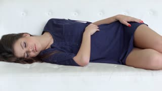 Sweet Beautiful Girl Sleeping on Couch