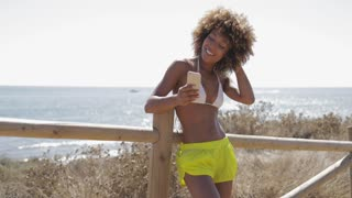 51a1014f0ba0 Hot snowboarder girl in swimsuit posing Stock Video Footage - Storyblocks  Video