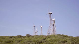 Wind turbines on a hilltop