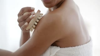 Woman Massaging Her Shoulder