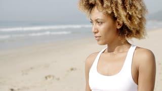 Young Woman Enjoying Sunlight.
