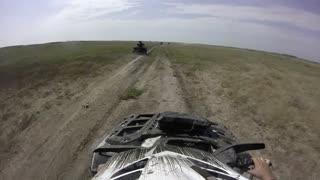 ATV Ride through the steppe and terrain - GoPro cam
