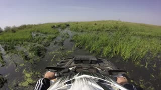 ATV Ride  through the Swamp, Water, Dirt and the Reeds - GoPro cam