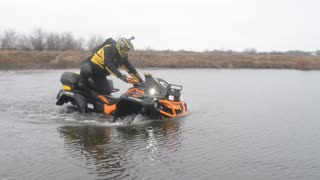 ATV Ride  through the Swamp, Water, Dirt and the Terrain