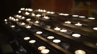 Candles In Church. Faith And Pray