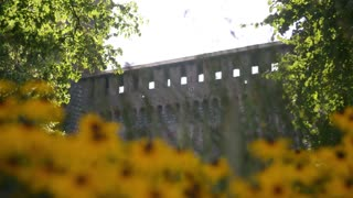 Castello Sforzesco - walls and flowers Milan