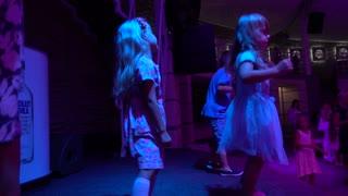 Children Are Dancing On The Disco Dance Floor