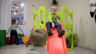 Children play in Preschool Kindergarden