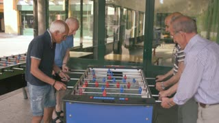 Elderly old men playing calcio