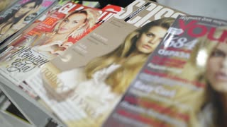 Fashion Glossy Magazines on the Shelf