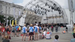 Free Open Outdoor symphony concert, conductor and orchestra - Krakow Poland