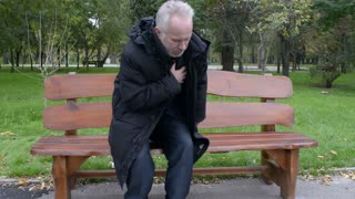 Heart attack at the old man while walking in the park