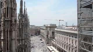Milan Italy modern business turistic city - view from the roof of the Duomo