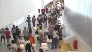 Milano Expo 2015 Pavilion of Brazil Installation. Visitor walk along the campus