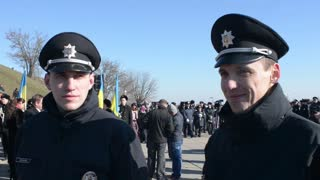 New National Police of Ukraine - patrol smiling affably