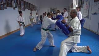 Open Doors Karate Training For Children - working methods of attack and defense