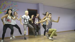 Open Lesson, young and beautiful dancing - studio modern dance style