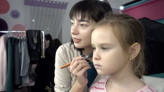 Perfect Fashion make-up for little child girl model