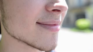 Portrait Of Gay mouth lips smiling