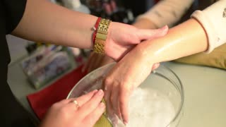 Procedure Hands Massage In The Spa Salon - Hand Care In The Beauty Salon