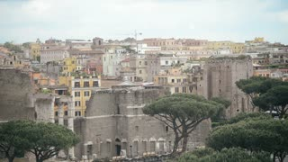 Rome Antique Site - Panorama - Forum Ancient Imposing Columns Temple Of Apollo