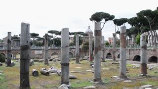 Rome Antique Site Roman Empire Forum Ancient Imposing Columns Temple Of Apollo