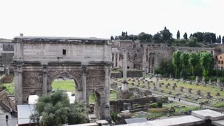 Rome Antique Site Roman Empire Forum Ancient Imposing Columns Temple Of Apollo