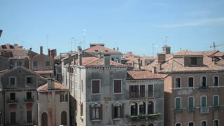 Roofs of houses in Venice of the red Italian tile