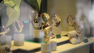 Shopping in Milan, Showcases of Rolex watch store