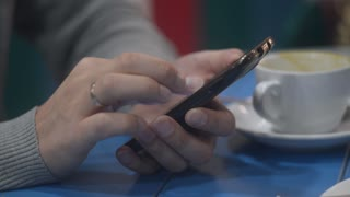Sliding And Typing Touch Screen Of Smart Phone