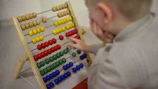 Smart Boy playing in Preschool Kindergarden