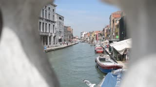 Summer in the streets and canals of Venice. Ampty canal.