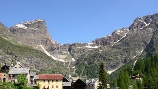 The village in the Italian alps