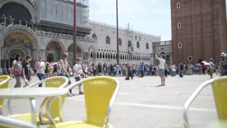 Thousands of chairs cafe on the Piazza San Marco in Venice