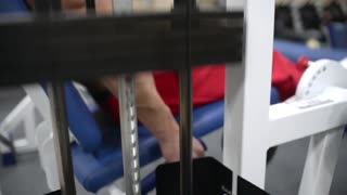 Treadmill for Legs - lifting steel weights