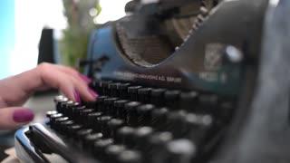 Typing With Old Typewriter