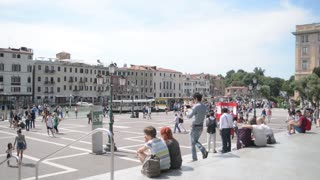 Venice. Square in front of the railway station