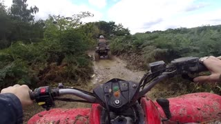 ATV Ride  through the Swamp, Forest, Dirt and the Terrain in Essex, East Anglia
