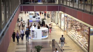 Business Interior of Mall Shopping Center - People Crowds