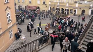Christmas Fair in Prague Czech Republic - Crowded Streets