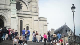 Crowd of People near Sacre Coeur - Montmartre Paris