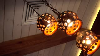 Decorated Lamp for cozy interier of Restaurant Bar
