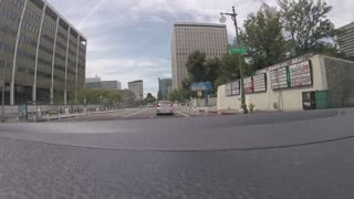 Driving Car on a Street of Los Angeles California - GoPro Camera time lapse