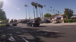 Driving Car on a Street of Los Angeles California - GoPro Camera video